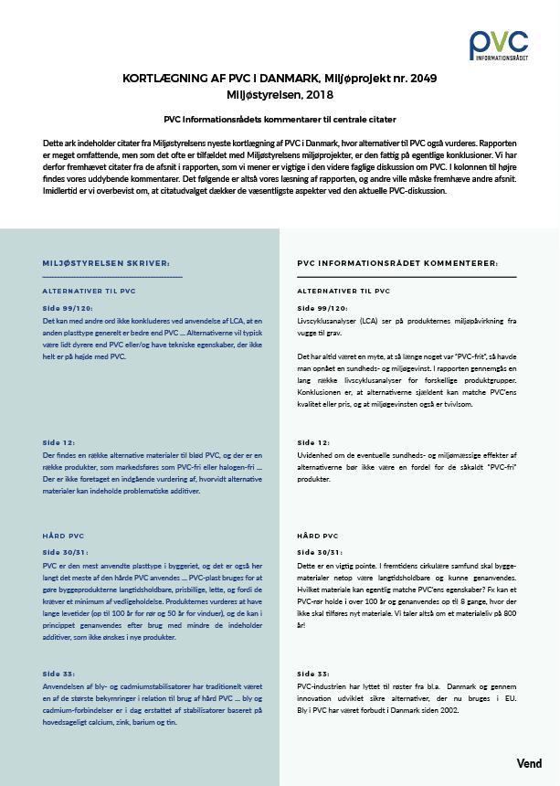 miljøstyrelsen kortlægning af pvc faktaark